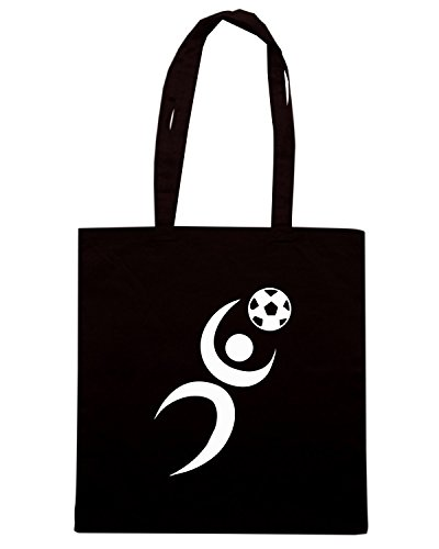 T-Shirtshock - Borsa Shopping OLDENG00646 silhouette soccer goalie Nero