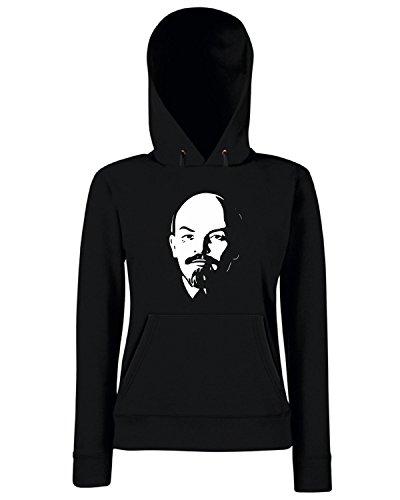 T-Shirtshock - Sweats a capuche Femme TCO0086 lenin Noir