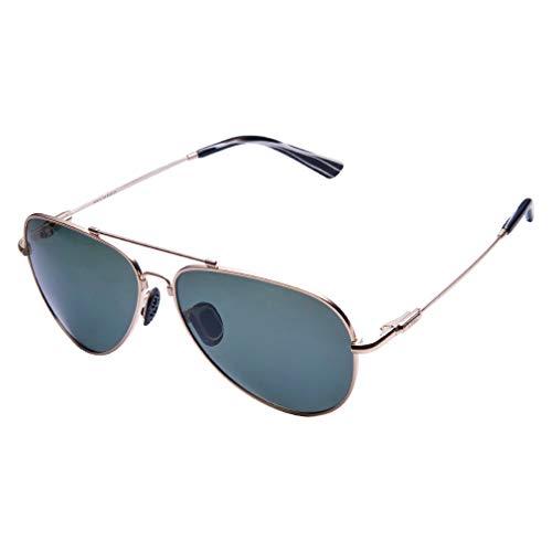 TAIQX Polarisierte Sonnenbrille Frauen /Männer Classic Aviator Sonnenbrille mit Spring Arms Anzug überdimensioniert und mittelgroße Gesichter,Spiegel Objektive,UV 400