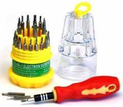 Mini Jackly Monu's 31 in 1 Multifunction Universal Magnetic Screwdriver Tool Kit for Professional Household Repair