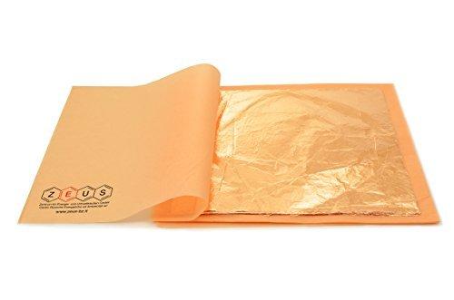 Kupfer Blatt (Schlagmetall - lose - kupfer - 16 x 16 cm - 100 Blatt)