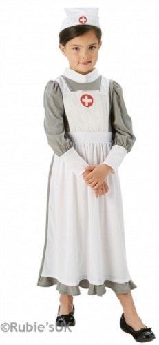 Fancy Me Mädchen WW1 WW2 Vintage Krieg Krankenschwester Florence Nightingale Kostüm Kleid Outfit 5-10 Jahre - 7-8 Years