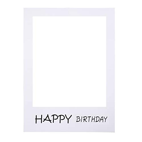 Bestoyard buon compleanno festa cornice foto prop compleanno fai da te cornice di carta ritagli photo booth puntelli per la festa di compleanno fornitura