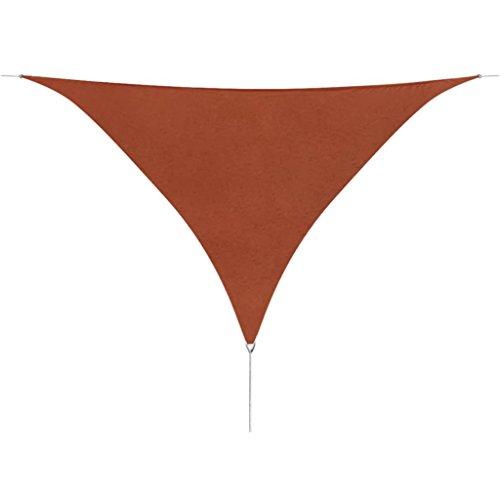 vidaXL Sonnensegel Dreieckig 3,6x3,6x3,6m Terrakotta Sonnenschutz Beschattung