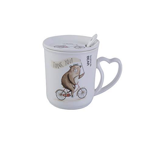 r Keramik Becher Tier Niedlich Kaffeetasse Büro Haushalt Trinkbecher Tasse 12,5x10x9cm ()