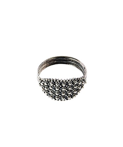 Marrocu gioielli - fede sarda a nido d'ape 4 fili argento