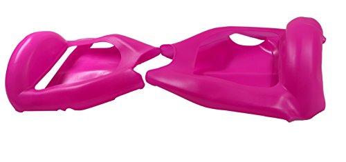6,5″ Housse/Coque De Protection En Silicone Pour Hoverboard Segway 2 Roues, Cool&Fun Coque Anti-rayures Etanche Couverture Complète, Rosé Foncé