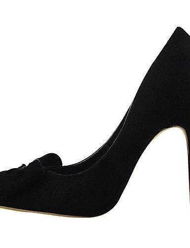 WSS 2016 Chaussures Femme-Extérieure / Bureau & Travail / Soirée & Evénement-Noir / Rose / Rouge / Gris / Fuchsia-Talon Aiguille-Talons / Bout gray-us7.5 / eu38 / uk5.5 / cn38