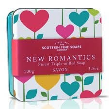 Scottish Soaps Soap In A Tin New Romantics Multi-Heart 100g