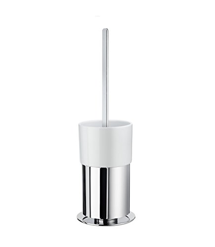 Smedbo Outline WC-Bürste mit Porzellan Glas, rund; FK311P (Outline Smedbo Wc-bürste)