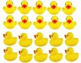 Zantec 20 stücke Gelbe Ente für Baby Badewanne Bade Gummi Quietschende Spielzeug