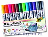 folia 581 Textilmarker, 12er Set, farbig sortiert