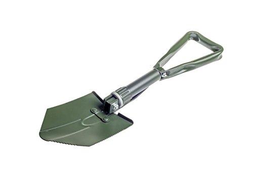 Schaufel 4WD-SHOV-D Tri Fold Shovel green 3 in 1 Schaufel / Hacke / Säge mit tasche Klappspaten Feldspaten Spaten für Outdoor Camping Survival Notgarten Dunkelgrün 1.2kg (3 X Green Sage)
