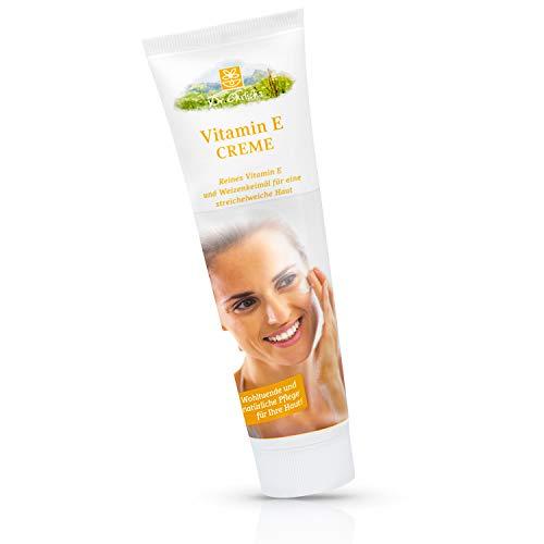 Dr. Ehrlichs Vitamin E Creme 100ml - reichhaltige Intensivpflege für die besonderen Ansprüche und Bedürfnisse reifer Haut - pflegt, glättet und strafft die Haut - Säureschutzmantel wird verbessert - Creme Vitamin