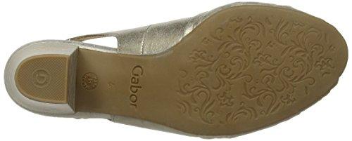 Gabor 26.551.62 Damen Slingback Sandalen Gold (mutaro)