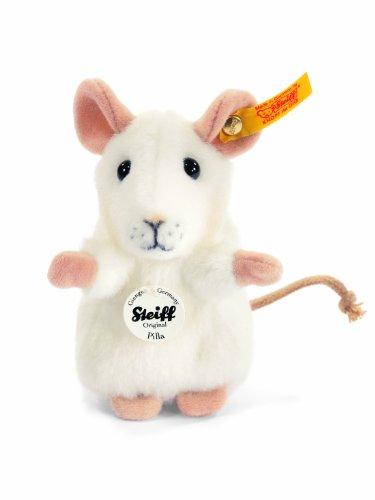 Steiff 56215 - Pilla Maus, weiß, 10 cm