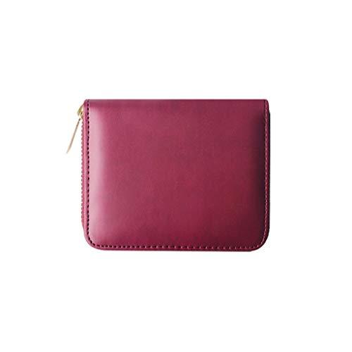 SuperSU Damen Mode Geldbörse Einfach klein Portemonnaie Einfarbig mit Reißverschluss Große Kapazität Kurz Geldbeutel,Portmonee Multi-Card-Bit Geldtasche Damengeldbörse Brieftasche