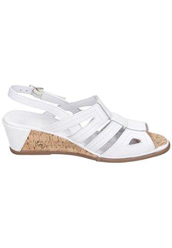 Comfortabel Damen Sandale Weiß
