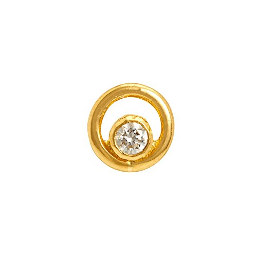 Gehna 22k (916) Yellow Gold and Diamond Nose Pin
