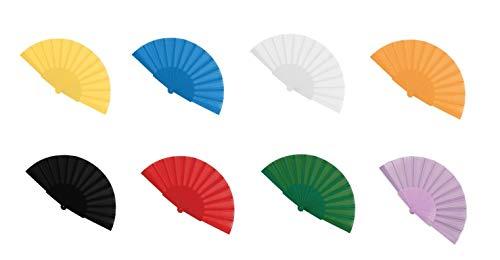 Vasara Abanicos de tela de colores