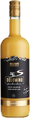 Dolomiti Dolomino - Bombardino 16% vol, cremiger Eier-Likör mit Rum verfeinert (1 x 1 l)