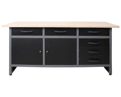 Ondis24 Werkbank Werktisch Packtisch 6 Schubladen Werkstatteinrichtung 170 x 60 cm Arbeitshöhe 85...