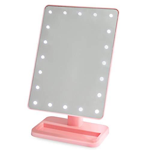 LEDHZJYLW Make-up-Spiegel, LED, Kosmetikspiegel, Schminkspiegel, beleuchtet, mit 20 LED-Lichtern und...