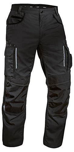 Uvex Tune-up 8909 Pantaloni da Lavoro con Velluto Resistente alle Abrasioni| Tasche Cordura Cuscinetti alle Ginocchia | Molte Tasche Laterali | Nero | Taglia 56