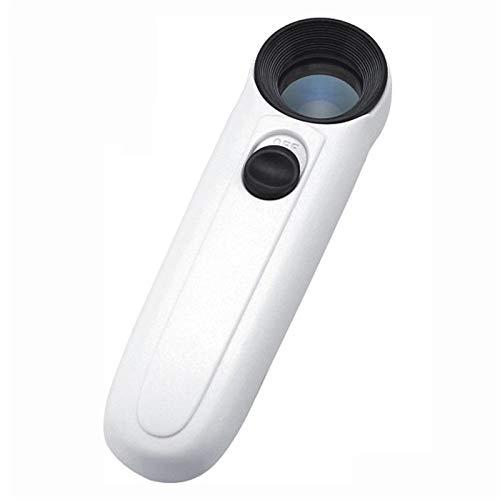 Magnifier Lupe Mit LED Leuchten Mit 40 Facher Vergrößerung Ideal Zum Lesen, Zur Reparatur Von Schmuckuhren Ergonomischer Griff Für Bequemen Halt Leicht Und Tragbar Von Fauay