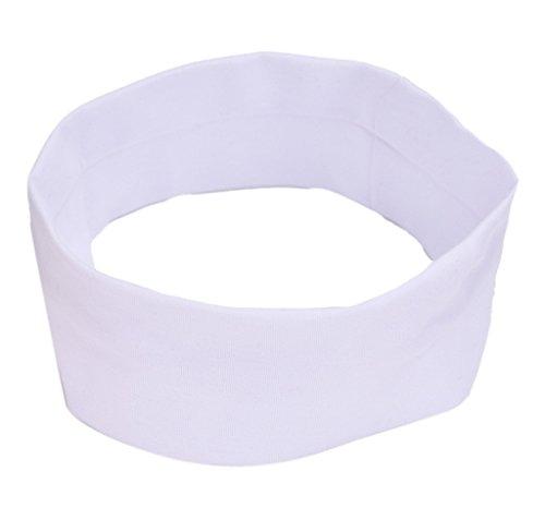 Stirnband, HARRYSTORE Unisex Yoga Elastische Turban Haar Band Einfache Stil Stirnband (Männlich Kostüm Kaninchen Weißes)