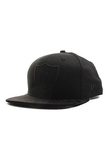 New Era Tonal Suede Visor 9Fifty Snapback Cap Oakland Raiders Schwarz, Size:S/M Suede Visor Cap
