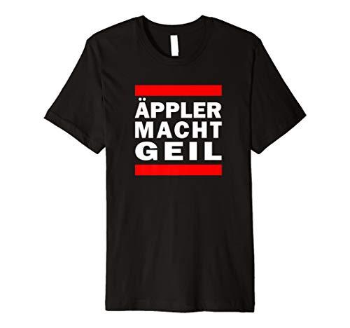 Äppler macht geil | Apfelwein Hessen Gerippte Bembel Handkäs T-Shirt