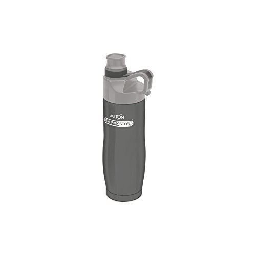 Milton Alpha 500 Stainless Steel Sports Water Bottle, 480ml/89mm, Grey