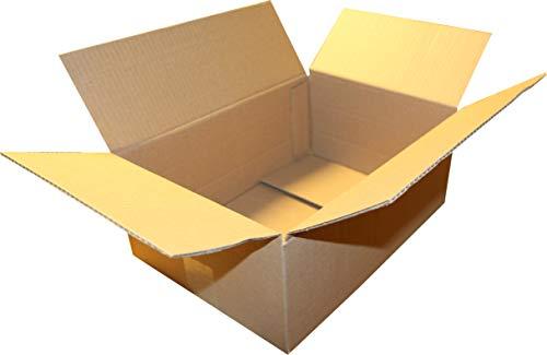 """150 St. Versandkarton 350 x 250 x 150 Größe\""""S\"""" Faltschachtel Transportkiste Faltkarton Packsetkarton mit 2 Zusatzrillern bei 50 und 100 mm"""