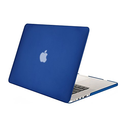MOSISO Hülle Kompatibel MacBook Pro 15 Retina (NO CD-ROM) - Ultradünne Plastik Hartschale Hülle Kompatibel [Vorherige Generation] MacBook Pro 15 Zoll mit Retina Display A1398, Blau - 15 Das Case Klar Pro Macbook Retina