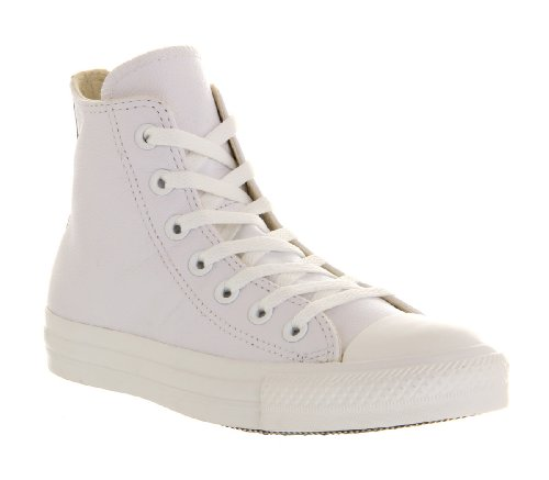 Converse Unisex-Erwachsene Chuck Taylor All Star Adulte Mono Leather Hi Gymnastikschuhe Bianco (White Mono)