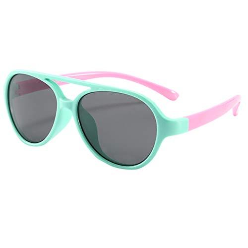 Elsta Baby Kinder Sonnenbrille Polarisierte Sportbrille Jahren Komfortabel und Sicher 100% UV-Schutz Sunglasses Brillen für Jungen und Mädchen (1PC, A)