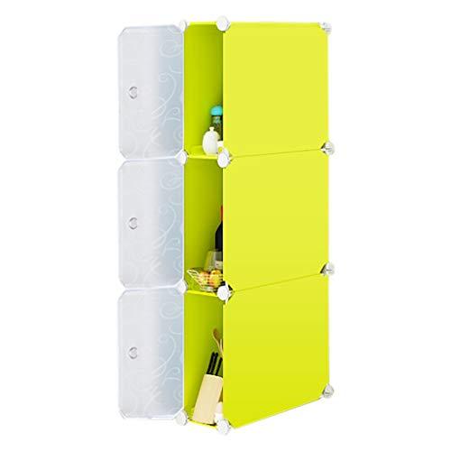 REGAL HUYP Badezimmer-Badezimmer-Lücke-Speicher-Kabinett-Küche-Kühlschrank-Gestell-Studie (Farbe : Gelb) (Lebensmittel-speicher-kabinett)