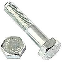 Stahl verzinkt 2 Stk DIN 961 Sechskantschraube M12x1,5x50 Feingewinde ann/ähernd bis Kopf