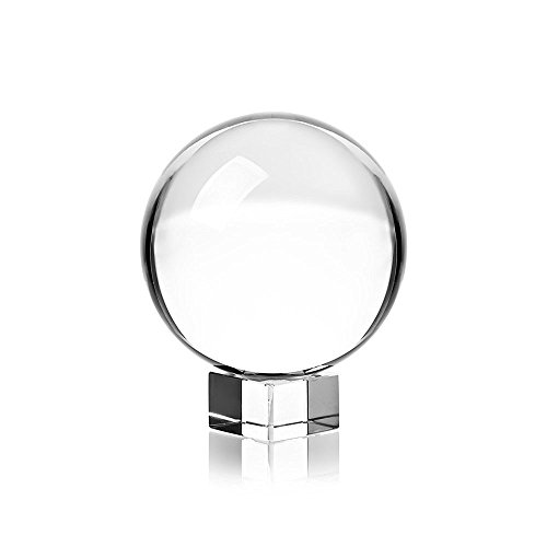 Techzere 80 mm K9 Crystal Lens Ball Pro and Stand for Creative Photography