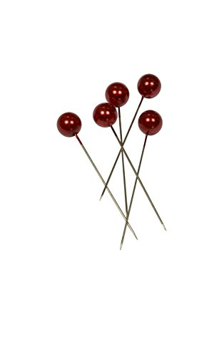 Corderie Italiane 006042457 Deko-Nadeln, Durchmesser: 6 x 65mm, 100 Stück, Rot