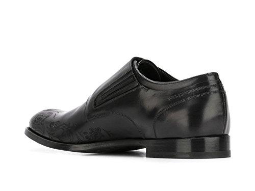 Alexander McQueen Mocassins Homme en Cuir Veau Noir - Code Modèle: 457332 WHP62 Noir