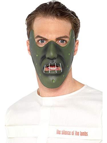 Accessoires Zubehör Herren Männer Hannibal Lecter Schweigen der Lämmer Maske, perfekt für Karneval, Fasching und Fastnacht, Grün ()