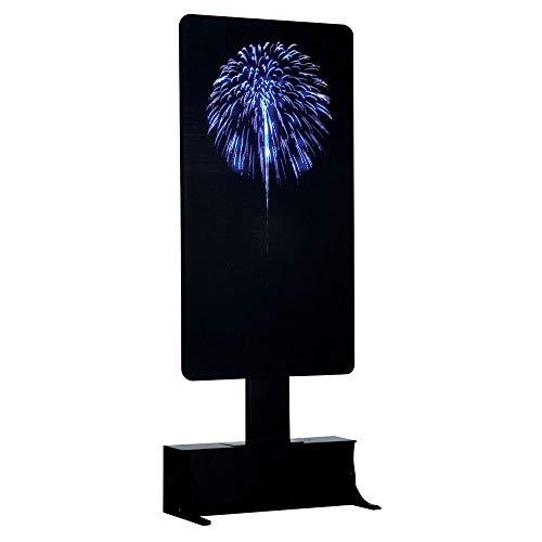 Lemax Blue Fireworks Décoration de Noël en Forme d'arbre de Noël avec feu Bleu 4,5 V