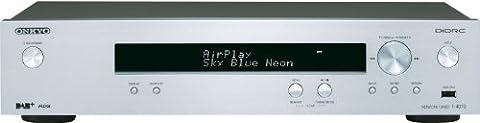 Onkyo T-4070 Tuner réseau (radio Internet, AM / FM / DAB / DAB +, DLNA, USB compatible AirPlay) argent
