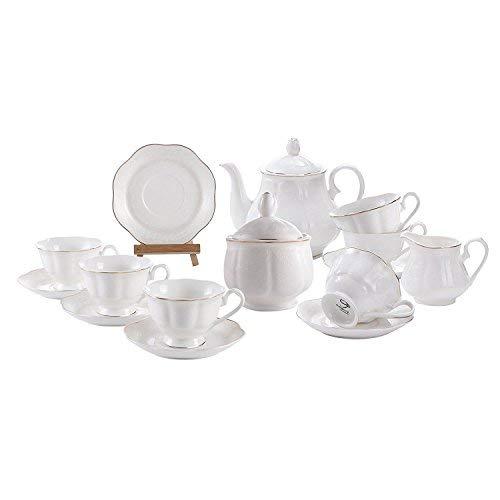 GuangYang Service à Café Tasses Porcelaine Anglaise -...