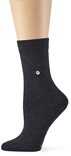 Burlington Damen Strick Socken Lady, Gr. 36/41, Grau (anthrazit meliert 3081)