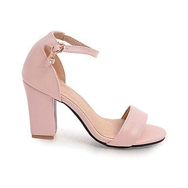 LvYuan Da donna Sandali Scarpe formali Finta pelle Primavera/Autunno Estate Compleanno Da sera Quotidiano Scarpe formali Quadrato Nero Beige Rosa beige