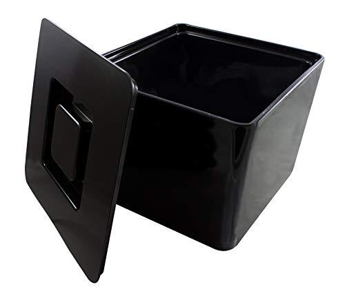 MeinTablett Eiswürfelbox mit Deckel und Siebeinsatz, Eisbehälter, Eiskübel, Eisbehälter