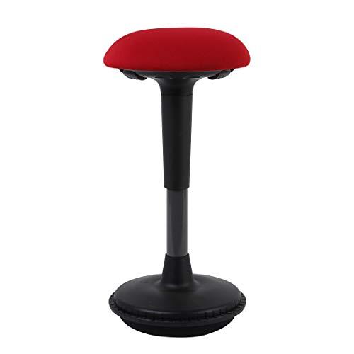 Flexispot Ergonomie Wobble Hocker Arbeitshocker, Bürohocker, Ergonomische Stehhilfe, Hoch verstellbar Sitzhocker Drehhocker, Perfekt für Stehpult (rot)